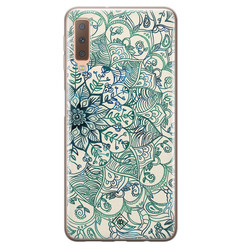 Casimoda Samsung Galaxy A7 2018 siliconen hoesje - Mandala blauw