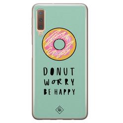 Casimoda Samsung Galaxy A7 2018 siliconen hoesje - Donut worry