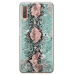 Casimoda Samsung Galaxy A7 2018 siliconen hoesje - Snake pastel
