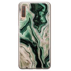 Casimoda Samsung Galaxy A7 2018 siliconen hoesje - Green waves