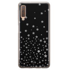 Casimoda Samsung Galaxy A7 2018 siliconen hoesje - Falling stars