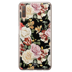 Casimoda Samsung Galaxy A7 2018 siliconen hoesje - Flowerpower