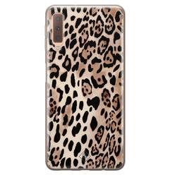 Casimoda Samsung Galaxy A7 2018 siliconen hoesje - Golden wildcat