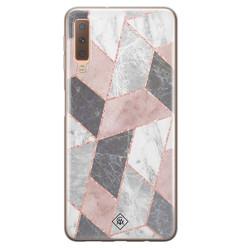 Casimoda Samsung Galaxy A7 2018 siliconen hoesje - Stone grid