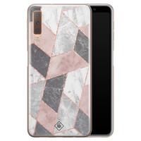 Casimoda Samsung Galaxy A7 2018 siliconen telefoonhoesje - Stone grid