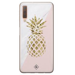 Casimoda Samsung Galaxy A7 2018 siliconen hoesje - Ananas