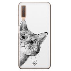 Casimoda Samsung Galaxy A7 2018 siliconen hoesje - Peekaboo