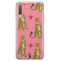 Casimoda Samsung Galaxy A7 2018 siliconen hoesje - The pink leopard