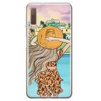 Casimoda Samsung Galaxy A7 2018 siliconen hoesje - Sunset girl