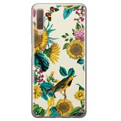 Casimoda Samsung Galaxy A7 2018 siliconen hoesje - Sunflowers