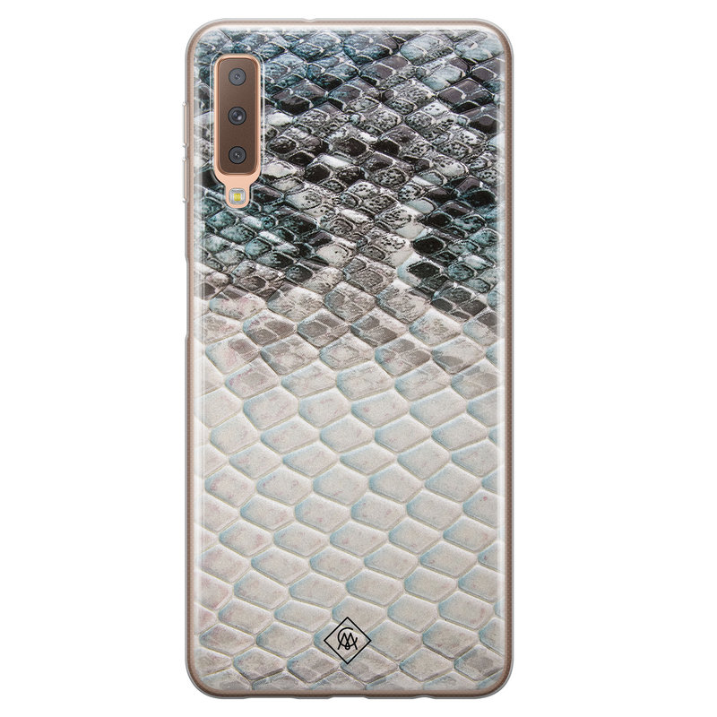 Casimoda Samsung Galaxy A7 2018 siliconen hoesje - Oh my snake