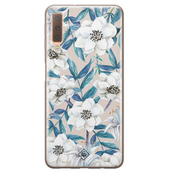 Casimoda Samsung Galaxy A7 2018 siliconen hoesje - Touch of flowers