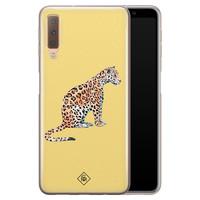 Casimoda Samsung Galaxy A7 2018 siliconen hoesje - Leo wild