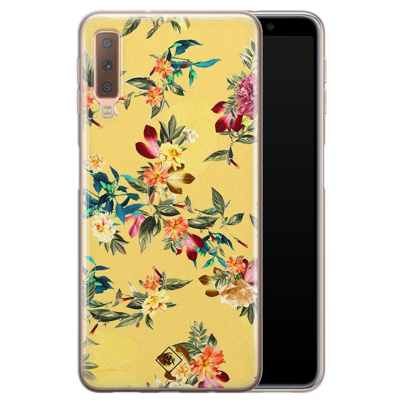 Casimoda Samsung Galaxy A7 2018 siliconen hoesje - Floral days