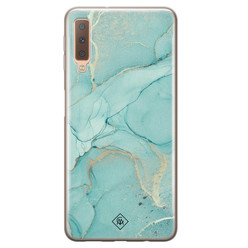 Casimoda Samsung Galaxy A7 2018 siliconen hoesje - Touch of mint