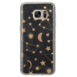 Casimoda Samsung Galaxy S7 siliconen hoesje - Counting the stars