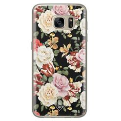 Casimoda Samsung Galaxy S7 siliconen hoesje - Flowerpower