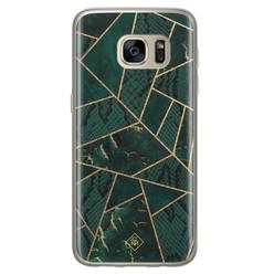 Casimoda Samsung Galaxy S7 siliconen hoesje - Abstract groen
