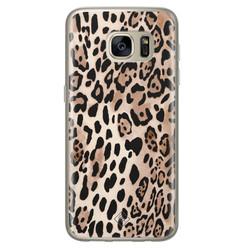 Casimoda Samsung Galaxy S7 siliconen hoesje - Golden wildcat