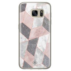 Casimoda Samsung Galaxy S7 siliconen hoesje - Stone grid