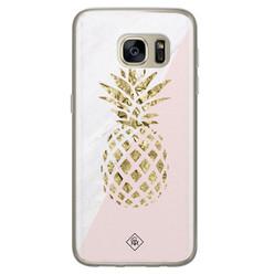 Casimoda Samsung Galaxy S7 siliconen hoesje - Ananas