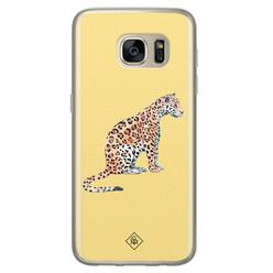 Casimoda Samsung Galaxy S7 siliconen hoesje - Leo wild