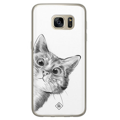 Casimoda Samsung Galaxy S7 siliconen hoesje - Peekaboo