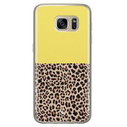 Casimoda Samsung Galaxy S7 siliconen hoesje - Luipaard geel