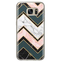 Casimoda Samsung Galaxy S7 siliconen hoesje - Marmer triangles