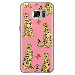 Casimoda Samsung Galaxy S7 siliconen hoesje - The pink leopard