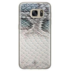 Casimoda Samsung Galaxy S7 siliconen hoesje - Oh my snake