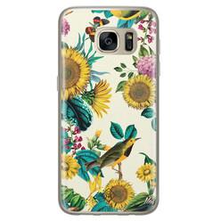 Casimoda Samsung Galaxy S7 siliconen hoesje - Sunflowers