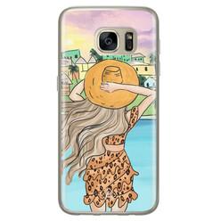 Casimoda Samsung Galaxy S7 siliconen hoesje - Sunset girl