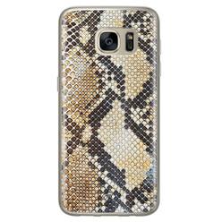 Casimoda Samsung Galaxy S7 siliconen hoesje - Golden snake
