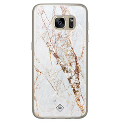 Casimoda Samsung Galaxy S7 siliconen hoesje - Marmer goud