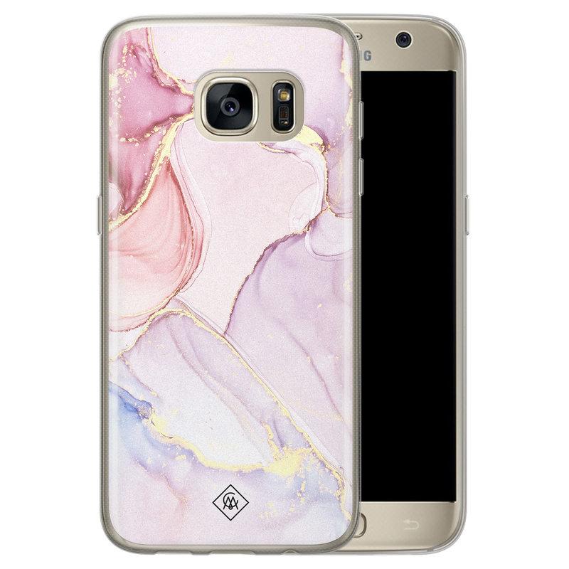 Casimoda Samsung Galaxy S7 siliconen hoesje - Purple sky