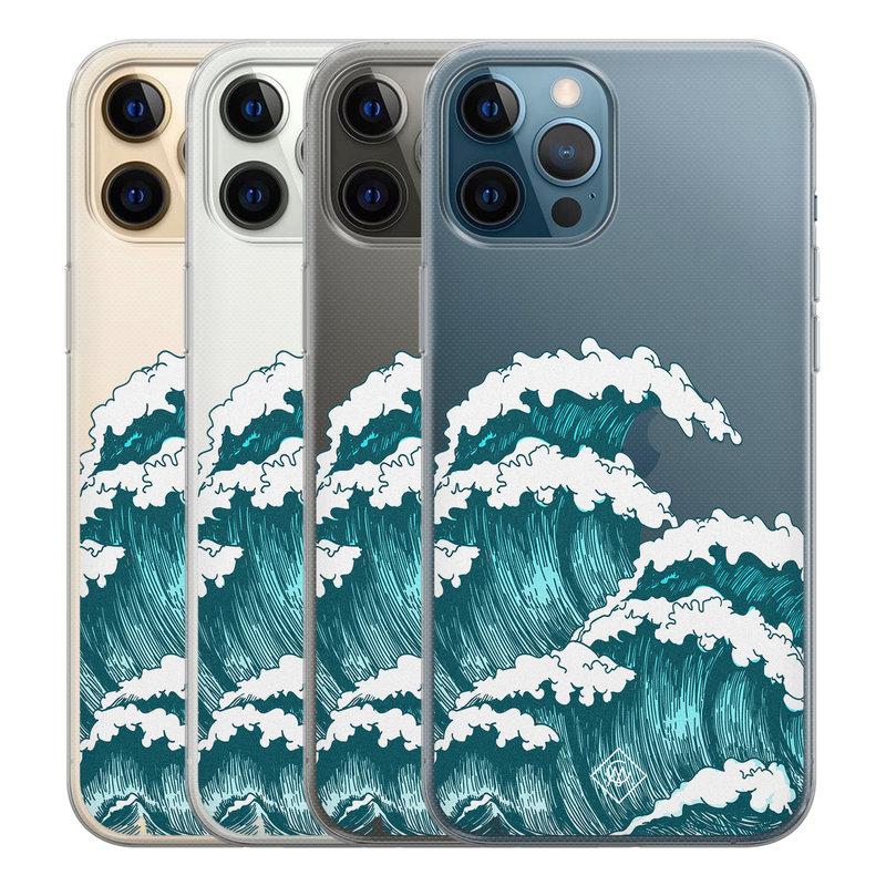 Casimoda iPhone 12 Pro Max transparant hoesje - Wave