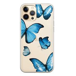 Casimoda iPhone 12 Pro Max transparant hoesje - Vlinders