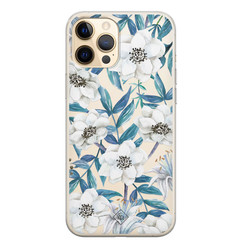 Casimoda iPhone 12 Pro Max transparant hoesje - Touch of flowers