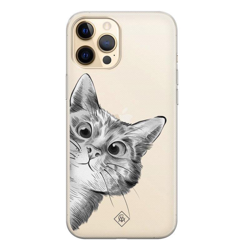 Casimoda iPhone 12 Pro Max transparant hoesje - Peekaboo