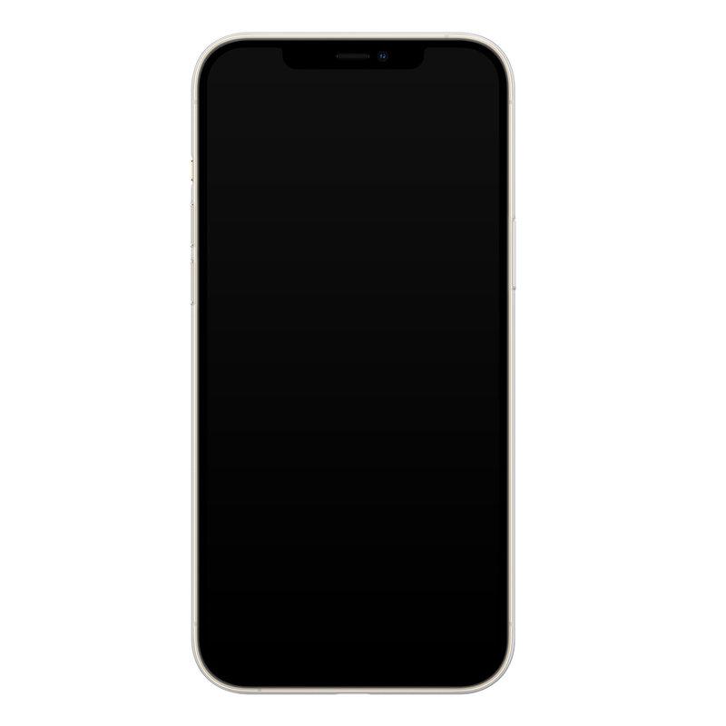 Casimoda iPhone 12 Pro Max transparant hoesje - Leo kisses