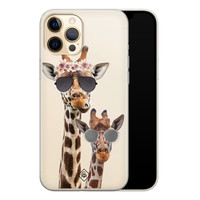 Casimoda iPhone 12 Pro Max transparant hoesje - Giraffe