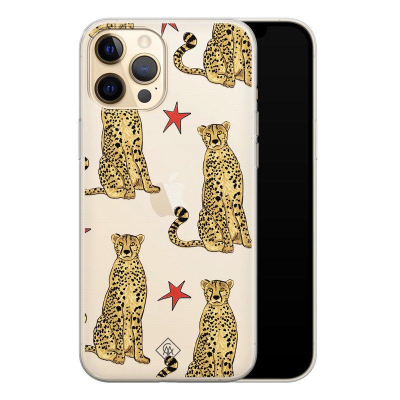 Casimoda iPhone 12 Pro Max transparant hoesje - Stay wild
