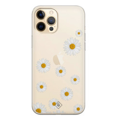 Casimoda iPhone 12 Pro Max transparant hoesje - Daisies