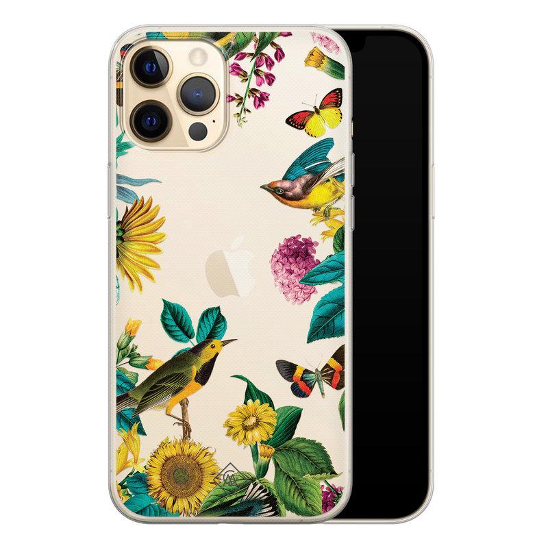 Casimoda iPhone 12 Pro Max transparant hoesje - Sunflowers