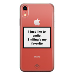 Casimoda iPhone XR transparant hoesje - Always smiling