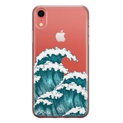 Casimoda iPhone XR transparant hoesje - Wave