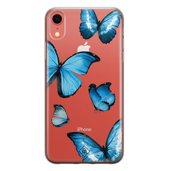 Casimoda iPhone XR transparant hoesje - Vlinders