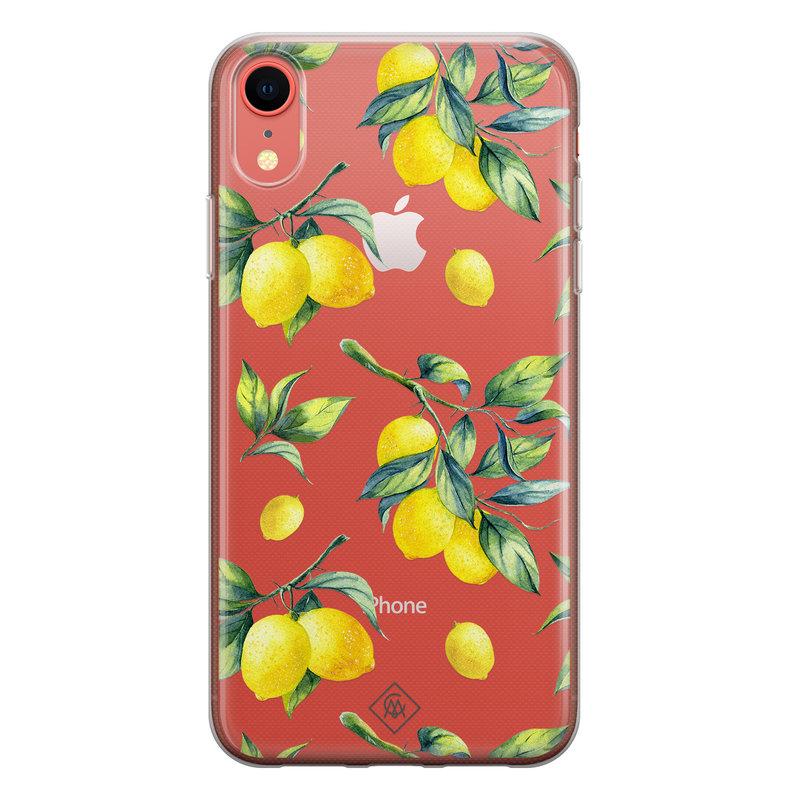 Casimoda iPhone XR transparant hoesje - Lemons