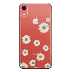 Casimoda iPhone XR transparant hoesje - Daisies